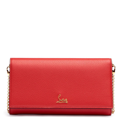 Boudoir red leather chain wallet