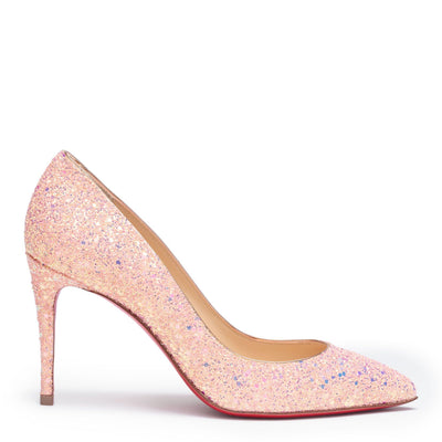 Pigalle Follies 85 pink glitter pumps