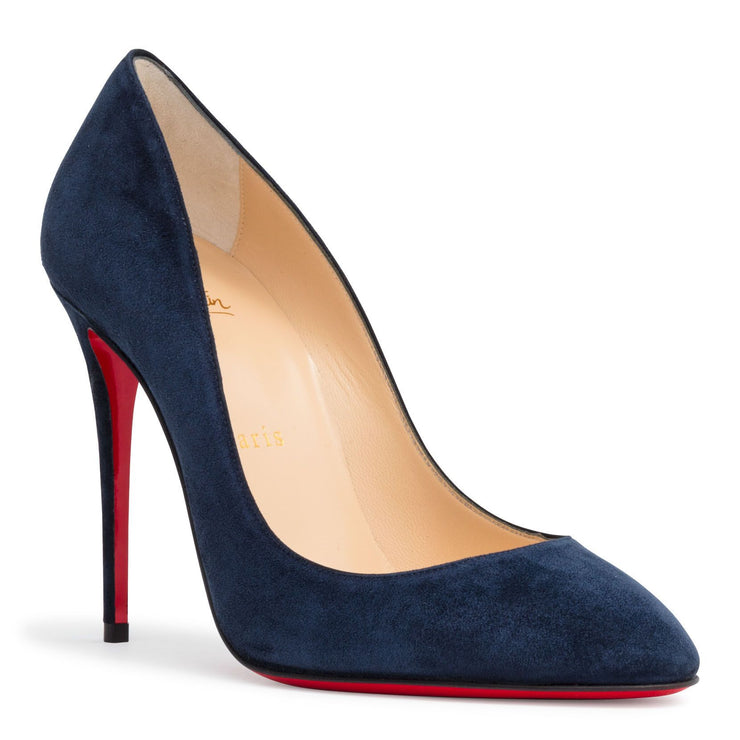 Eloise 100 Dark Blue Suede Pumps