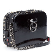 Rubylou mini vintage black patent shoulder bag