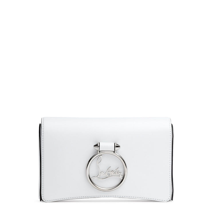 Rubylou white calf clutch