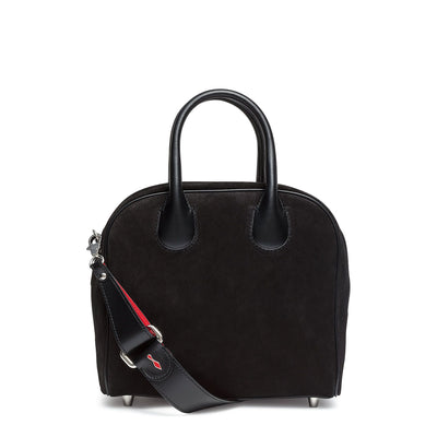 Marie Jane Small black suede shoulder bag