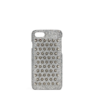 Loubiphone 7 and 8 silver spikes iPhone case