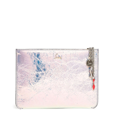 Loubicute Banquise Metal leather pouch