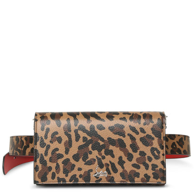 Boudoir leopard printed leather belt bag