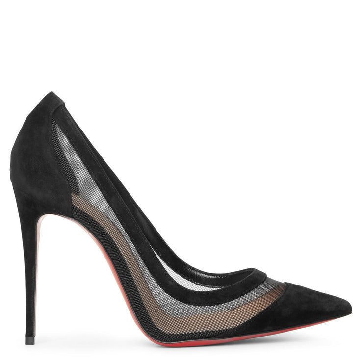 Galativi 100 black suede pumps