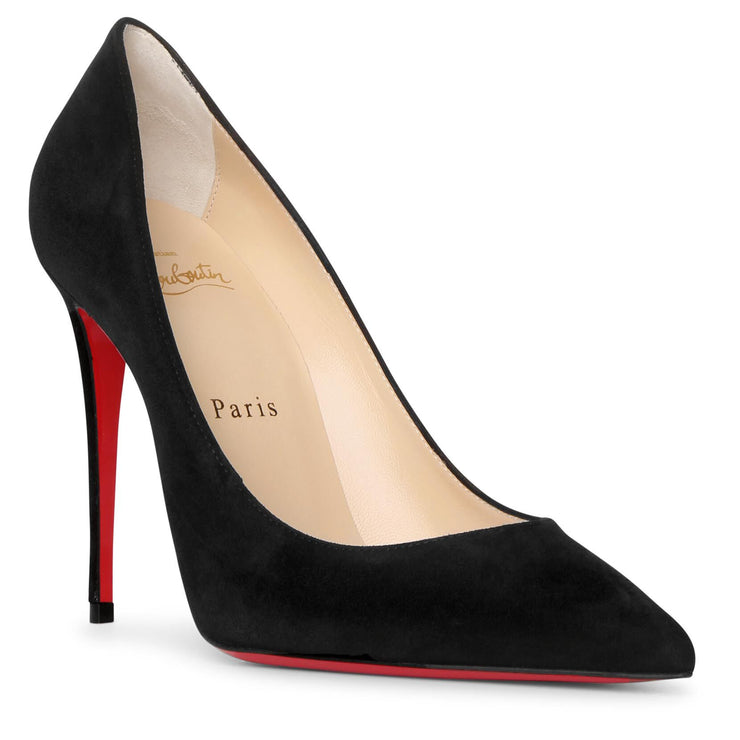 Kate 100 black suede pumps