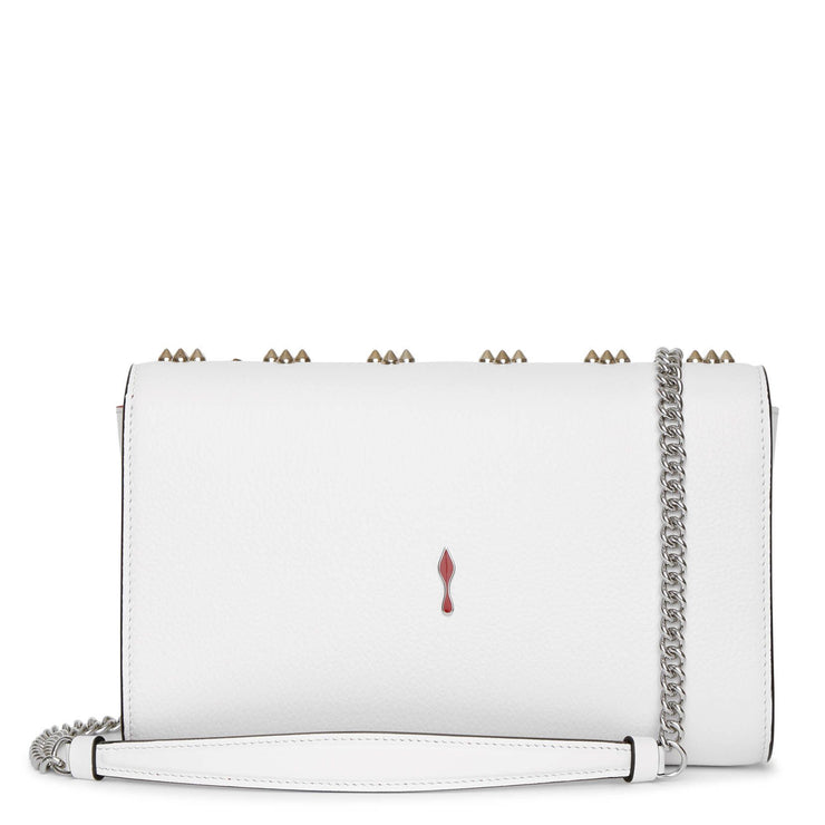 Paloma white leather clutch bag