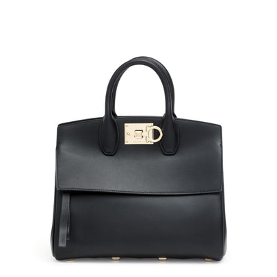 The Studio small black leather bag