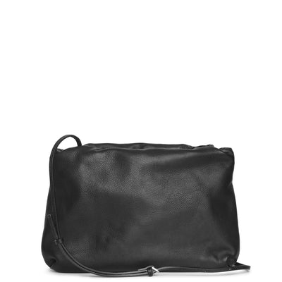 Boarse leather clutch bag