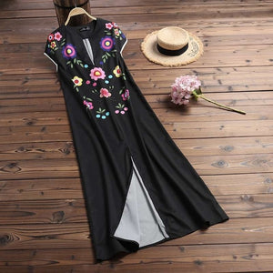 ZANZEA Summer Floral Printed Sundress Women's V Neck Short Sleeve Dress Female Beach