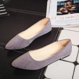 Shoes women spring 2018 new pearl shallow-mouthed chic single shoes 100 lap flat shoes Korean version 100 lap women's shoes - Y O L O Fashion Store