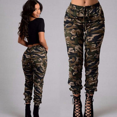 Womens Camo Cargo Trousers Casual Long Pants Military Armygreen Camouflage Print Pencil Pants Jogger 2019 Sweatpants Plus Size - Y O L O Fashion Store