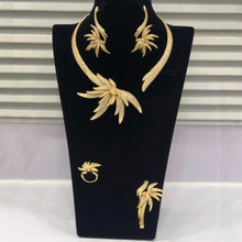 Load image into Gallery viewer, GODKI Luxury Palm Tree Leaf Nigerian Choker Jewelry sets For Women Wedding Cubic Zircon CZ Dubai Gold Bridal Jewelry Set 2019 - Y O L O Fashion Store