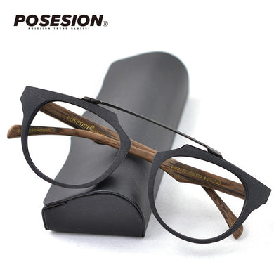 POSESION Vintage Spectacle Glasses Frame Men Women Eyeglasses Optical Prescription Glasses Frames with Clear Lens Male Female - Y O L O Fashion Store