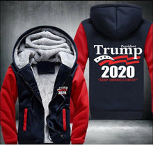 Load image into Gallery viewer, Drop shipping President Trump 2020 keep america great Man's Design Male Jacket Thicken Fleece US Size