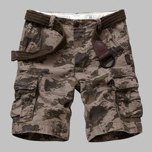 Load image into Gallery viewer, Premium Quality Camouflage Cargo Shorts Men Casual Military Army Style Beach Shorts Loose Baggy Pocket Shorts Male Clothes - Y O L O Fashion Store