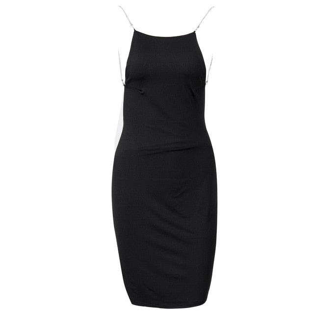 New Fashion Women Sexy Sleeveless Halter Bodycon Sheash Party Dress Stylish Sexy Womens Backless Slim Skinny Dresses