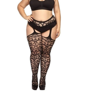 5 Styles Fashion Women Suspender Pantyhose Tights Plus Size Stockings - Y O L O Fashion Store