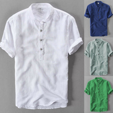New Luxury Men's Slim Fit Shirt Short Sleeve Stylish Casual Blouse shirt Tops