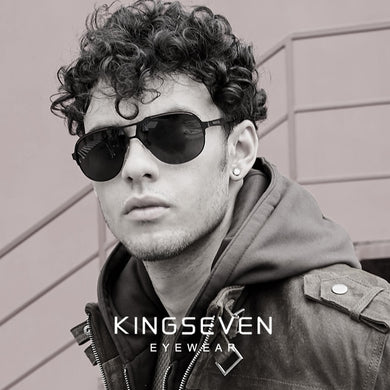 KINGSEVEN 2019 New Design Pilot Sunglasses Men Vintage Polarized Sunglasses Eyewear Accessories Male Sun Glasses For Men Custom