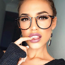 Load image into Gallery viewer, Newest Oversize Glasses Frames Metal Leg Vintage Eyeglasses Frame Women Men Plain Glasses Fashion Eyewear For Woman man