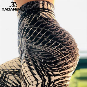 NADANBAO Fashion Women Leggings For Fitness Plaid 3D Printing Sportwear PUSH UP High Waist Pants Workout Leggins Outdoor Legin