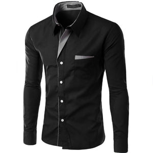 Hot Sale New Fashion Camisa Masculina Long Sleeve Shirt Men Slim fit Design Formal Casual Brand Male Dress Shirt Size M-4XL - Y O L O Fashion Store