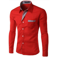 Load image into Gallery viewer, Hot Sale New Fashion Camisa Masculina Long Sleeve Shirt Men Slim fit Design Formal Casual Brand Male Dress Shirt Size M-4XL - Y O L O Fashion Store