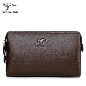 wallet Men's clutch bag anti-theft password lock male wallet business carteira antifurto mobile phone bag mens leather genuine - Y O L O Fashion Store