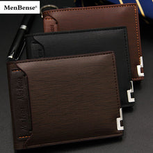 Load image into Gallery viewer, Menbense Men Leather Wallet slim Short wallet credit card holder Functional wallets Portable card holder