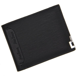 Menbense Men Leather Wallet slim Short wallet credit card holder Functional wallets Portable card holder