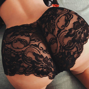 Plus Size Women's Sexy Thongs Underwear Female Baby Doll Erotic Lingerie G String Sexy Lace Transparent Panties For Sex S-5XL - Y O L O Fashion Store