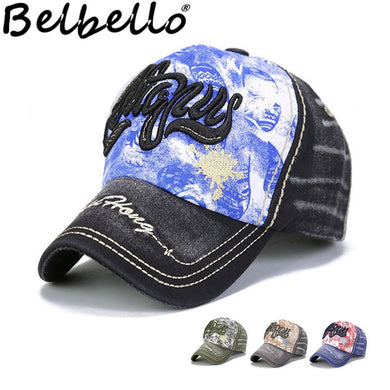 Belbello Outdoor Pupil Breathable Sunshade Cap Water-washed dark cotton Comfortable fabrics Baseball cap Children's hat - Y O L O Fashion Store