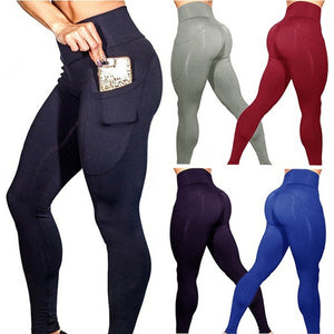 2019 Yoga Pants With Pockets Women Sport Leggings Jogging Workout Running Leggings Stretch High Elastic Gym Tights Women Legging - Y O L O Fashion Store