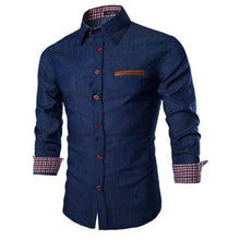 Load image into Gallery viewer, ZOGAA 2019 Hot New Brand Men's Camisa Masculina Long Sleeve Male Shirt Cotton Business Slim Fit Shirt Streetwear Casual Shirts - Y O L O Fashion Store