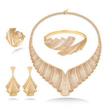 Load image into Gallery viewer, Zircon Indian African Bridal Jewelry Set 2019 African Beads Jewelry Set China Fashion Jewelry Set Suppliers - Y O L O Fashion Store