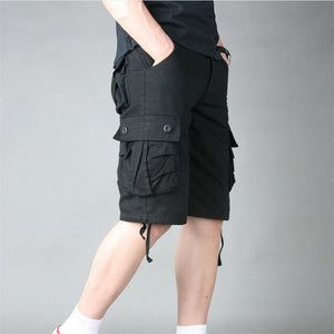 Summer Mens Cargo Shorts Cotton Army Military Loose Multi Pocket Casual Shorts Men Tactical Baggy Trousers Plus Size 51 52 55 - Y O L O Fashion Store