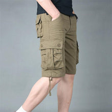 Load image into Gallery viewer, Summer Mens Cargo Shorts Cotton Army Military Loose Multi Pocket Casual Shorts Men Tactical Baggy Trousers Plus Size 51 52 55 - Y O L O Fashion Store