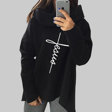 Load image into Gallery viewer, 2019 New Fashion Faith Print Kawaii Tops Sweatshirt Femmes Hoodies Women Clothings Print Youth Pattern Buckle Autumn - Y O L O Fashion Store
