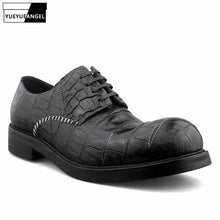 Load image into Gallery viewer, Designer Handmade Crocodile Leather Shoes Men Famous Brand Business Formal Derby Shoes Italian Real Leather Round Toe Dress Shoe