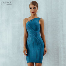 Load image into Gallery viewer, Adyce One Shoulder Summer Women Bodycon Bandage Dress Vestidos 2019 New Arrive Hollow Out Runway Celebrity Runway Party Dresses - Y O L O Fashion Store