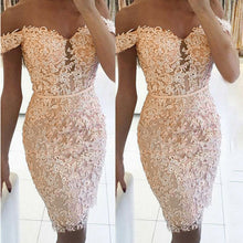 Load image into Gallery viewer, Evening Party Dresses 2019 Women New Solid Lace Midi Dress Camis Lace Floral BodyCon - Y O L O Fashion Store