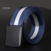 Load image into Gallery viewer, MINGLILONG Men's Canvas Belt Male Strap Military Training Outdoor Automatic Buckle Jeans
