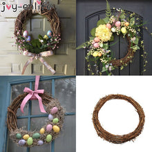 Load image into Gallery viewer, JOY-ENLIFE 10-30cm Xmas Home Decor Natural Rattan Wreath Easter Party Wreath Crafts Egg Decoration Spring Wedding Wreath - Y O L O Fashion Store