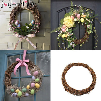 JOY-ENLIFE 10-30cm Xmas Home Decor Natural Rattan Wreath Easter Party Wreath Crafts Egg Decoration Spring Wedding Wreath - Y O L O Fashion Store