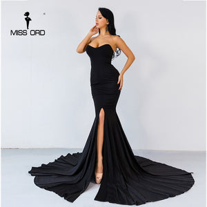 Missord 2020 Sexy wrapped chest asymmetric maxi dress party dress FT1683