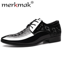Load image into Gallery viewer, Merkmak Autumn Oxfords Leather Men's Shoes Casual Dress Shoes Men Lace Up Breathable Formal Office For Man Big Size 38-48 Flats