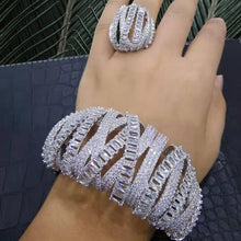 Load image into Gallery viewer, GODKI luxury Stackable Dubai Gold Bangle Cuff Ring Sets For Women Wedding Cubic Zircon Crystal CZ Dubai Bridal Jewelry Sets - Y O L O Fashion Store