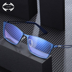 VCKA Computer Blue Light Blocking Glasses Men Radiation Gaming Square Titanium alloy Eyewear Anti Blue Ray Protection Eyeglasses - Y O L O Fashion Store